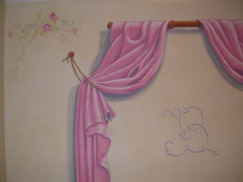 Pink Curtain Detail