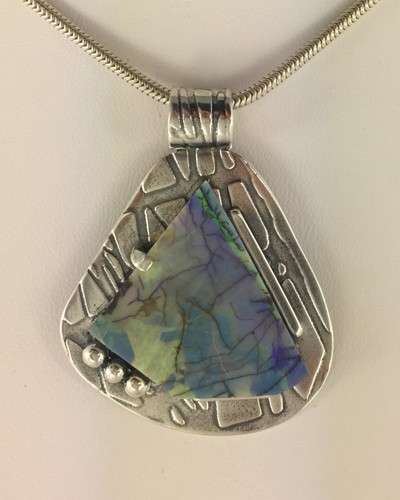 Angular Sterling Opal Penant