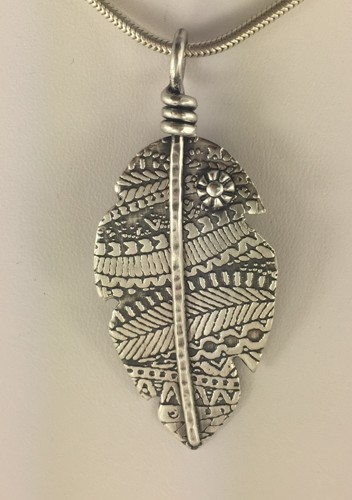 Textured Banana Leaf Pendant