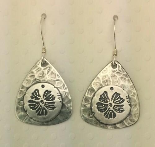 Hibiscus Silver Earrings
