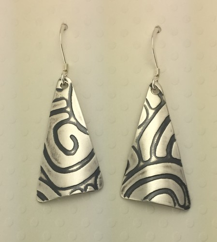 Crazy Triangle Earrings