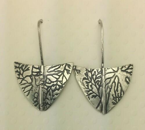 Folded Shield Earrings