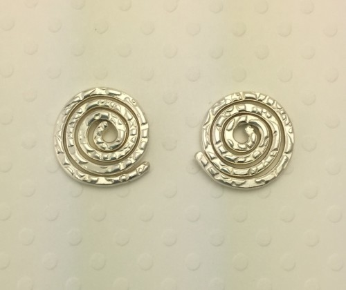 Small Shiny Coil Stud Earrings