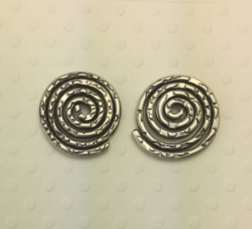 Small Coil Stud Earrings