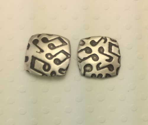 Small Musical Notes Stud Earrings
