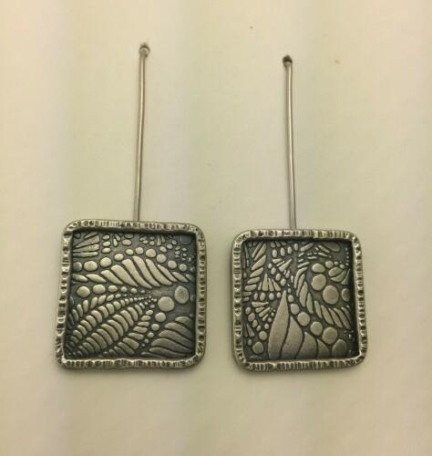 Long Square Earrings