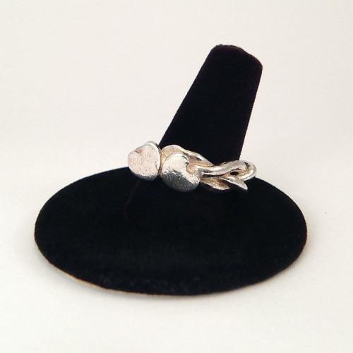 Two Hearts ring