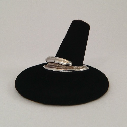 Pure silver unisex ring