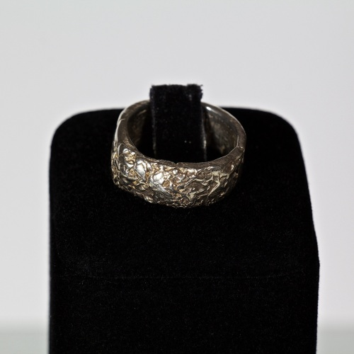 Nugget silver ring