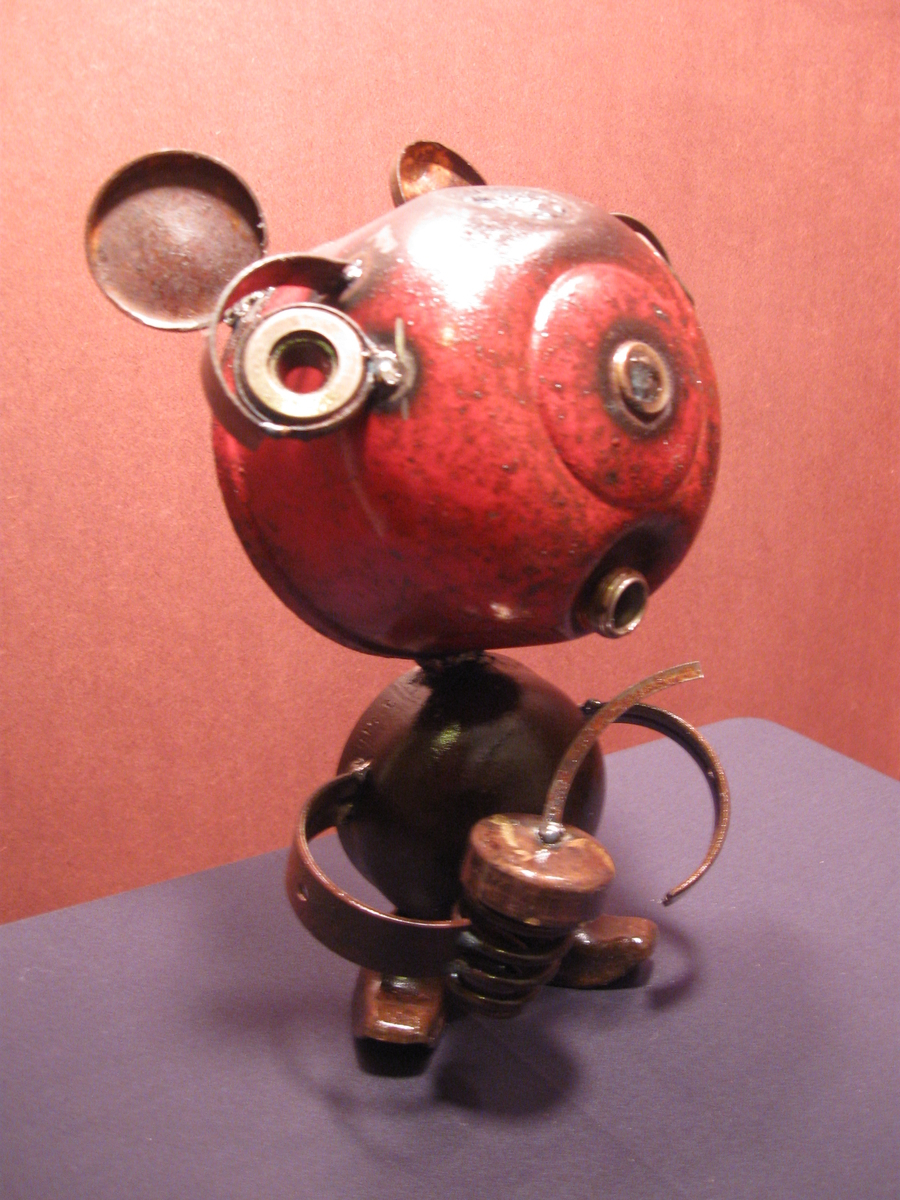 red bear with acorn  (large view)