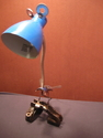 blue standing bird lamp (thumbnail)