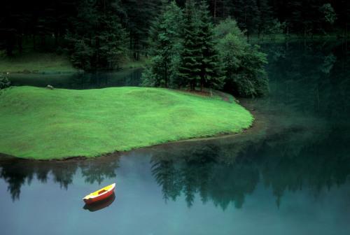 Lonely Boat....Austria/Germany border