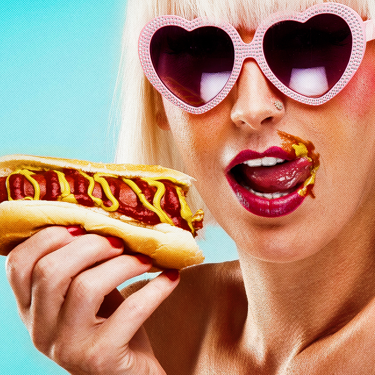 Girl With Hot Dog (large view)