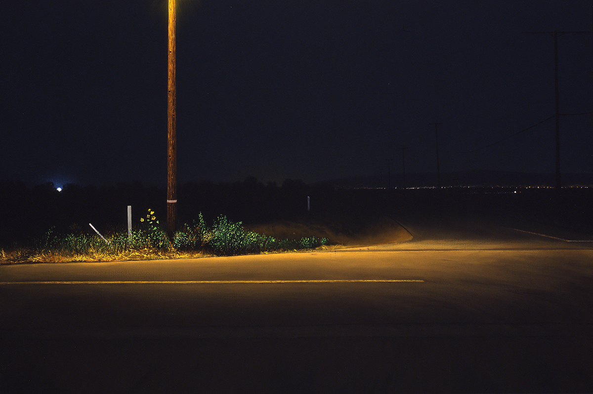 Night Intersection (60th and H Streets, Lancaster, CA) (large view)