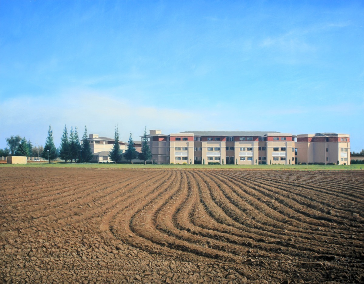 Plowed Fields and Dormitories, Stanislaus, CA (large view)