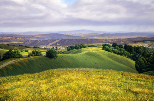 Interstate 5 Looking North from Valencia, CA by David Hines
