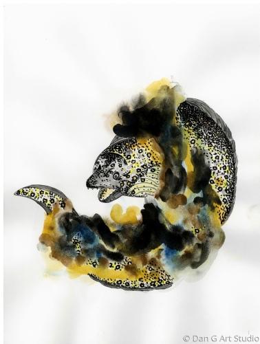 Puhi Kapa - Snowflake Moray Eel