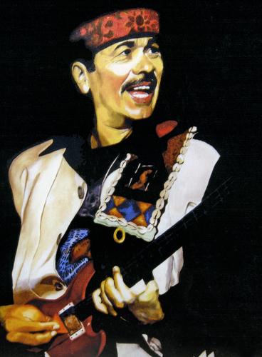 Carlos Santana by DONALD H.WALKER'S FINE ART