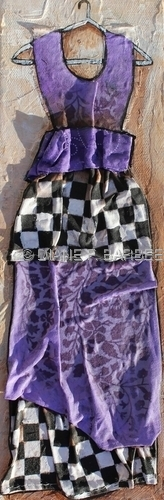 Checkered Board Dress Painting