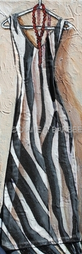 Dress Painting with Zebra Print