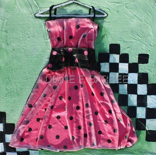 Pretty In Pink Dress Painting