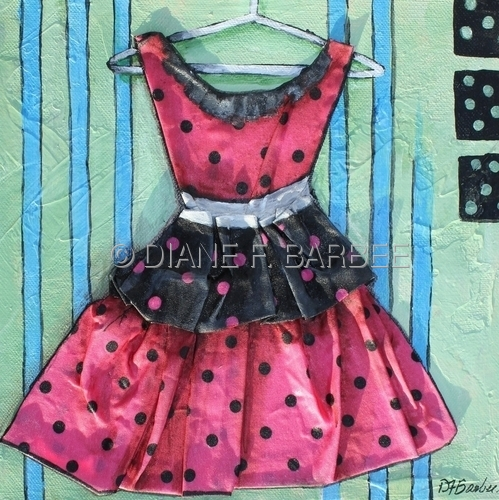 Pretty In Pink II Dress Painting