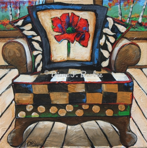Poppy Chair Pillow