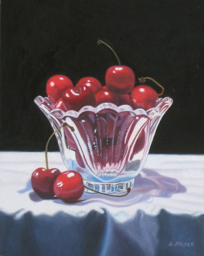 Cherries In A Crystal Bowl