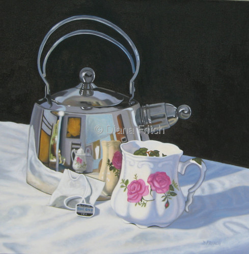 Reflections In A Tea Kettle (SOLD)