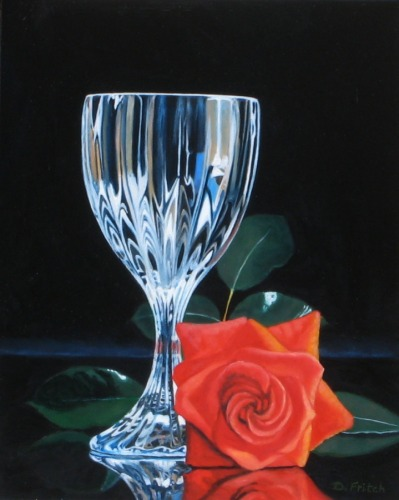GOBLET WITH ROSE, SOLD