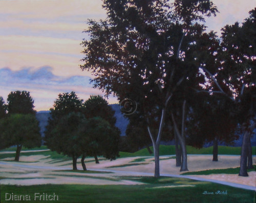 Golf Course At Twilight by Diana Fritch