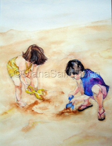 A Day at the Beach by Diana Saffo Bono