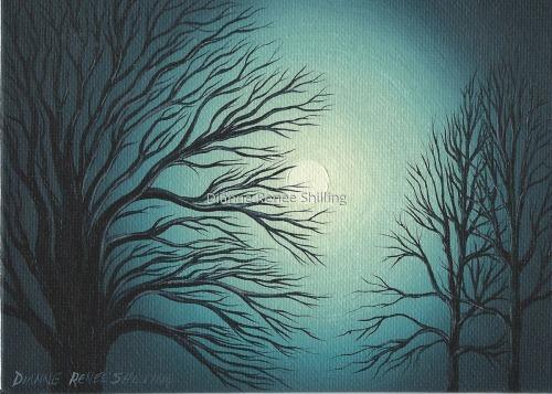 tree #2010-006 with full moon
