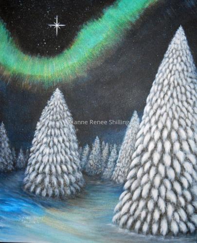 """""""North Star & Green Aurora"""" (#2014-045)"""