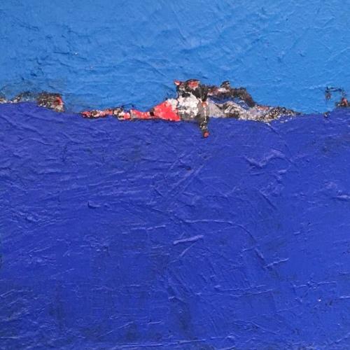 blue landscape#1 by Elysa Belessakos Art