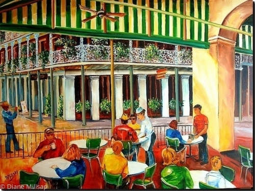 Early Morning at the Cafe Du Monde - SOLD