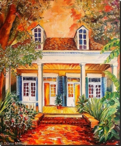 Creole Cottage inTreme - Sample of Commissioned Art