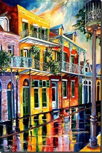 Rain in the Vieux Carre' - SOLD