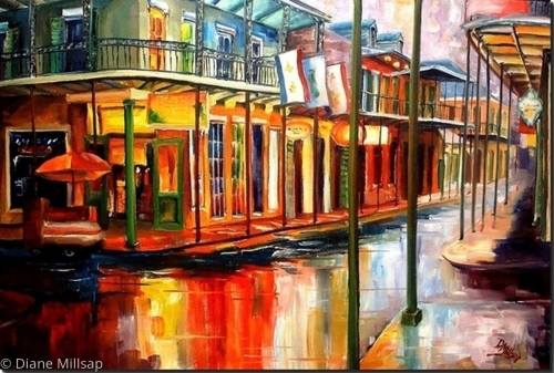 Downpour on Bourbon St. - SOLD