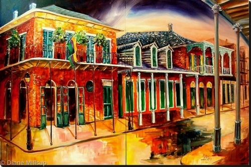 St. Ann Street - New Orleans - Diptych - SOLD