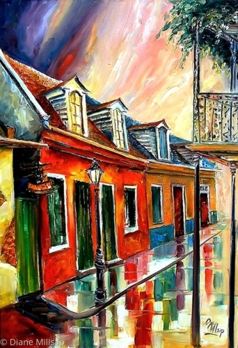 Rainy Day on Toulouse Street - SOLD