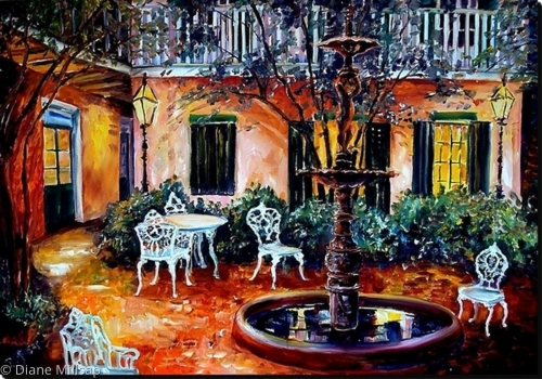 New Orleans Courtyard- SOLD