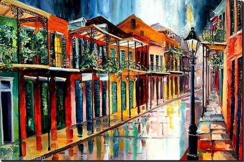 French Quarter Rain - SOLD