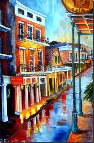 Rain up on Bourbon Street - Sold