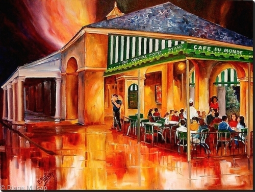 Midnight at the Cafe Du Monde - SOLD