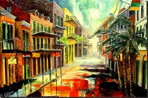 New Orleans Summer Rain -SOLD