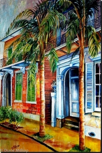 Palms on Esplanade - LARGE PAINTING- SOLD