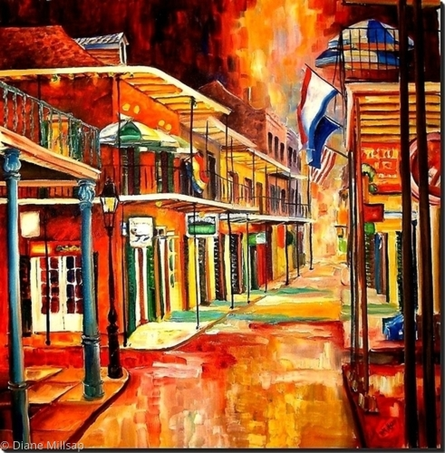 Bourbon Street Lights- Square Format - SOLD
