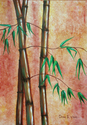 Bamboo in trio (original oil on canvas)  (thumbnail)