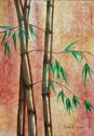 Bamboo in trio (original oil on canvas)  (thumbnail)
